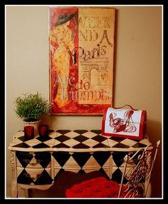 Hand painted furniture! Harlequin Vanity