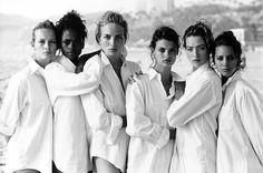Peter Lindbergh, Estelle Lefebure, Karen Alexander, Rachel Williams, Linda Evangelista, Tatjana Patitz, Christy Turlington, Vogue US, Los Angeles, USA, 1988