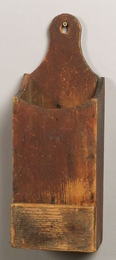 Red Painted Pine Pipe Box, America, early 19th ce