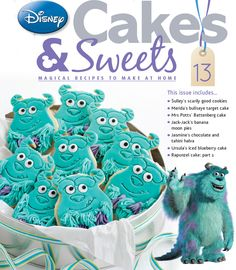 Issue 13 and the scrummy Sulley cookies. #disneycakes
