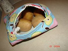 Potato bag (makes microwaved potatoes like BAKED potatoes!) I searched and searched for these instructions. All the pinsI was finding were image only, or ebay listings!