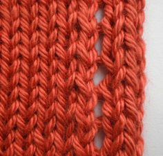 Stop stockinette edge from curl with eyelet
