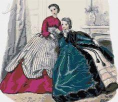 Elegant ladies cross stitch kits