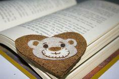 Bear Heart Bookmarks