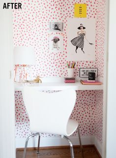 Closet transformed into a home office space!