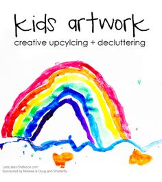 Kids Artwork: tips for upcycling + decluttering