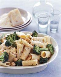 Broccoli and Chickpea Rigatoni
