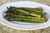 garlic balsamic asparagus #vegan