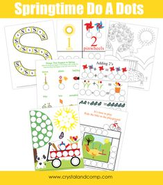 Free preschool do a dot printables spring