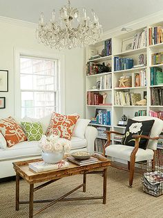 Comfy living. decor, coffee tables, living rooms, color, dream, family rooms, bookcas, shelv, live room