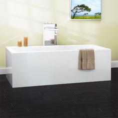 "$1460.00 71"" Dolan Freestanding Acrylic Tub"