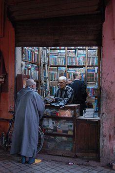 Book shop in Marrakech, Morocco