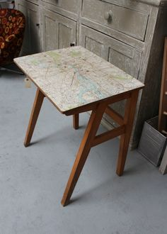 1960′s 'Map' Desk – Sharland & Lewis 1960s map, map desk