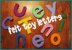 felt toy letters tutorial
