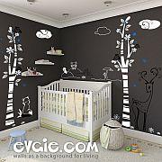 Woodland Animals Scene – Nursery Wall Decals – evgie