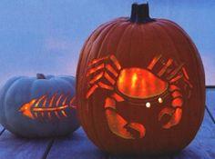 east coast, crab feast, halloween parties, carved pumpkins, sea creatures