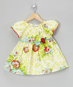 Yellow Picnic Plans Peasant Tunic - Infant & Toddler