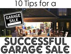 10 Tips for having a killer garage sale