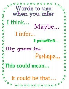 Word to use when you infer