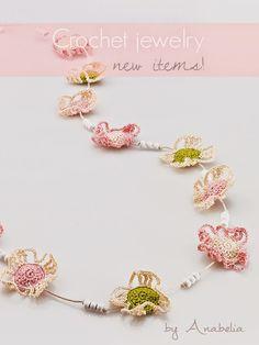 Crochet necklace, Anabelia Craft Design