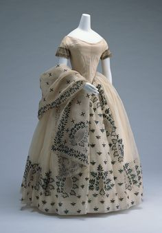 India, c. 1850. I think it's one of those yucky beetle wing dresses.