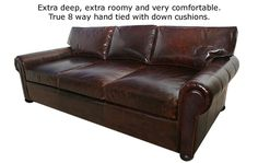 Casco Bay Furniture - Manchester Leather Couch