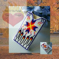 Bead PATTERN Feather Star Business Card Sleeve Loom or square stitch via Etsy