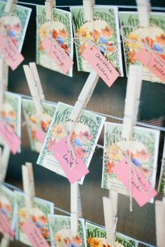 Wildflower Seed Escort Cards