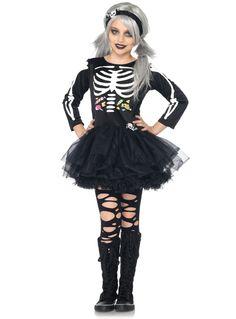 skeleton costumes   Skeleton Costume for Girls