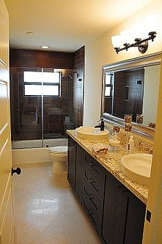 cabinets, baths, shower doors, bath remodel, tile, bathroom redo, kids bath, decor idea, guest bathrooms