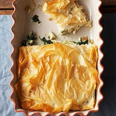 Chicken-and-Spinach Phyllo Bake