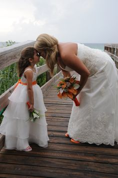 Cute picture to have taken with your flower girl!
