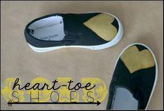 Gold heart-toe shoes