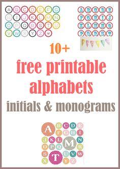 printable monogram letters, free banner letter, free letter printables, craft, diy banner