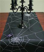 Shimmering Spider Web Table Runner