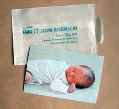 Birth announcement idea