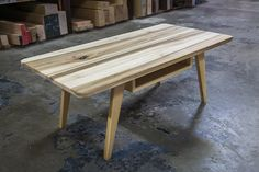 The Kinsey Coffee Table in Poplar