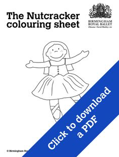 Nutcracker colouring sheet - Clara