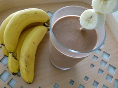 Our new favorite smoothie -- Chocolate Banana Peanut Butter Oatmeal