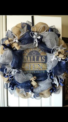 Dallas Cowboys wreath dallas cowboys wreath, dallas cowboy wreaths, wreath idea, dalla cowboy