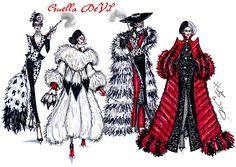 Cruella de Vil collection by Hayden Williams. #SpotonDahling #ILiveforFur #FurociouslyFabulous & #RevengefulinRed