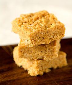 Peanut Butter & White Chocolate Rice Krispies Treats