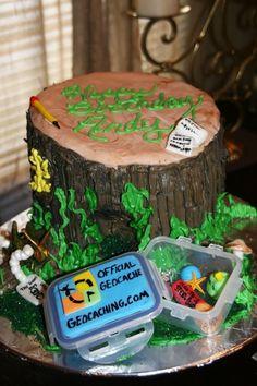 geocache cakes, geocaching party, geocaching cake, birthday parties, birthdays, theme cakes, 50th birthday, geocach cake, birthday cakes