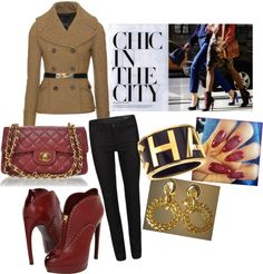 """Chanel burgundy chic"" on Polyvore #polyvore"