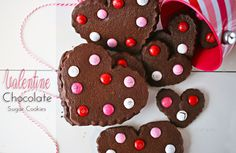 Valentine Chocolate Sugar Cookies (she: Gina) - Or so she says...