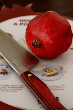 How to open a pomegranate - Genius! (Not technically a recipe, but very helpful!)