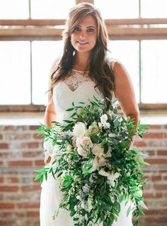 love this big bouquet of greens!