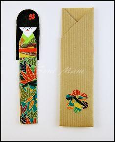 Bookmark - Kokeshi (A) - Origami Paper by SuniMam.deviantart.com