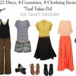 Mix and Match Outfits for Travel Using the 8 Piece Essentials Packing List.  This website is travel & packing GOLDMINE!