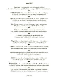 """""""Great Wedding Shower Idea. Buy a themed gift for every month of the year. Use this poem as your guide. You can either read the entire poem or make individual tags for each month's gift"""""""